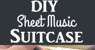 DIY Sheet Music covered Suitcase - Easy Decoupage!