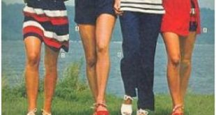 Red white and navy for Sears-1970s I had outfit on left.