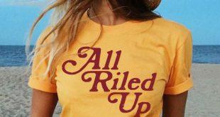 Vintage Clothes For Teens - Boho Wanderer Vintage Retro All Riled Up Tshirts Tees Vintage Hippie
