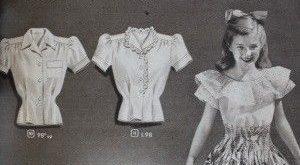 1940er Jahre Teen Blusen Tops Hemden. 1948 Junior Blusen und Strick T Shirts (Ju...