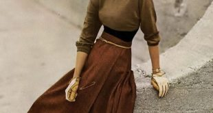 Chronically Vintage: Fabelhafte 1940er Jahre Herbstmode Inspiration brauner