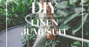 DIY Linen Jumpsuit