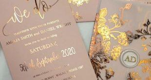 Rose Gold Hochzeitseinladungen