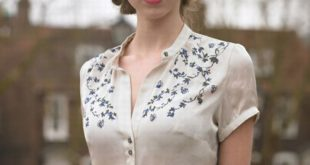 This shirt is GORGEOUS Corfield Shirt and tweed skirt | Summer 2010 | Katherine...