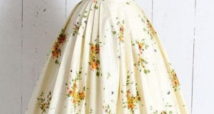 Vintage 1950s Skirt vintage 50s novelty print floral We are want to say thanks i...