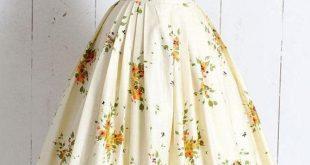 Vintage 50er Jahre Rock | Vintage 50er Jahre Neuheit Print floral Schmetterling ...