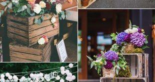 Vintage rustikale Hochzeitsdekoration Ideen mit Holzkisten #WeddingIdeasBoda