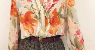 Watercolor Silk Blouse