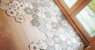 Wenn Sie auf der Suche nach einem Statement-Boden sind, können Sie mit diesen Hexagon-Fliesen